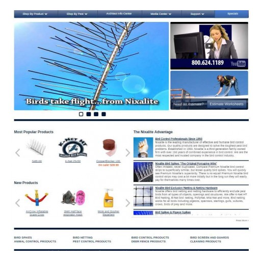 Nixalite of America Inc. Launches New Website